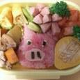 10.20 と、とも食いか。。豚さん弁当